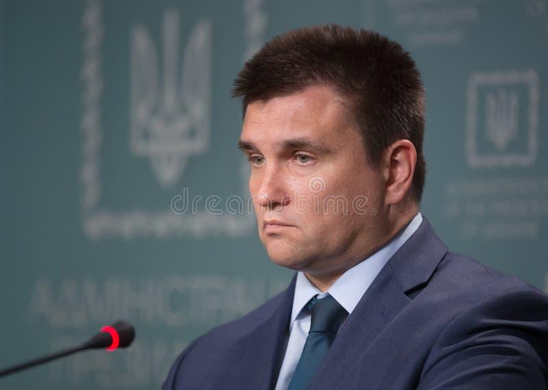 Ministro de asuntos exteriores de Ucrania Pavlo Klimkin foto de archivo