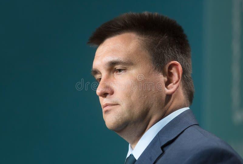 Ministro de asuntos exteriores de Ucrania Pavlo Klimkin foto de archivo libre de regalías