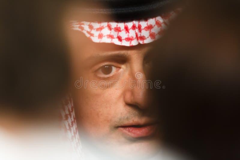 Ministro de asuntos exteriores de la Arabia Saudita Adel al-Jubeir fotografía de archivo libre de regalías