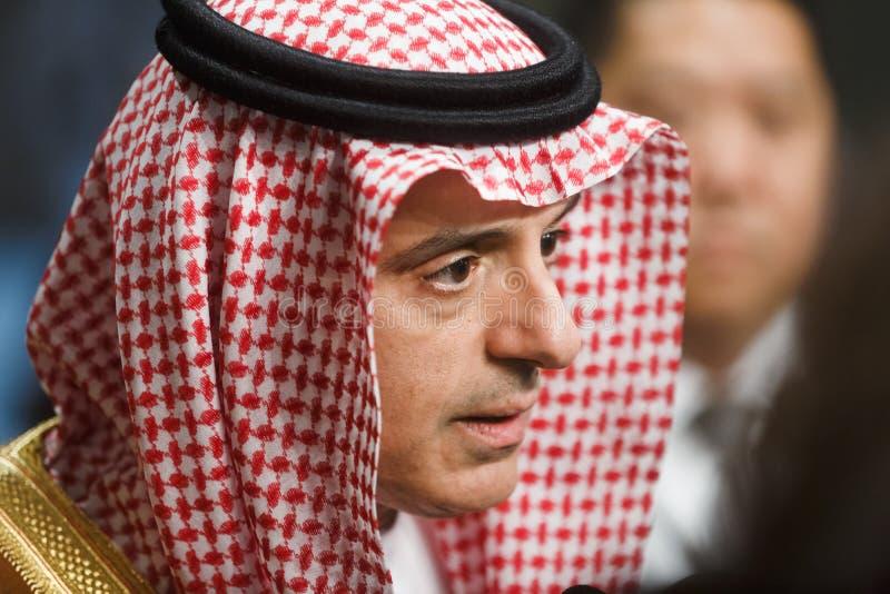 Ministro de asuntos exteriores de la Arabia Saudita Adel al-Jubeir foto de archivo