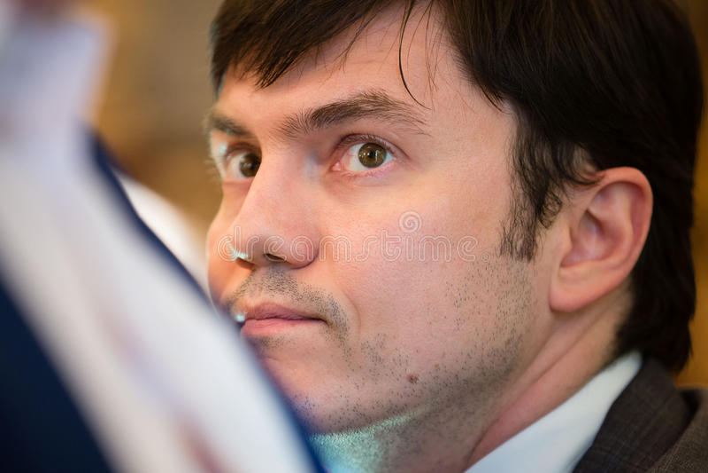 Ministro de la infraestructura de Ucrania Andriy Pivovarsky foto de archivo libre de regalías