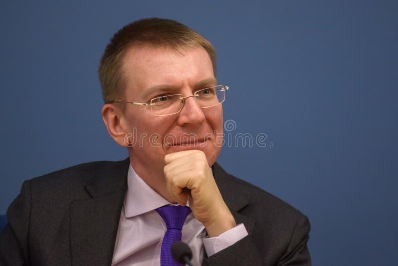 Ministro de los asuntos exteriores letón Edgars Rinkevics fotografía de archivo libre de regalías