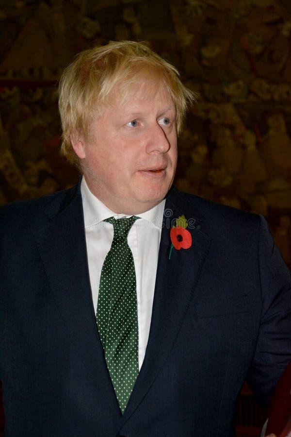 Ministro degli affari esteri Boris Johnson di Britannici nella visita ufficiale in Serbia fotografia stock libera da diritti