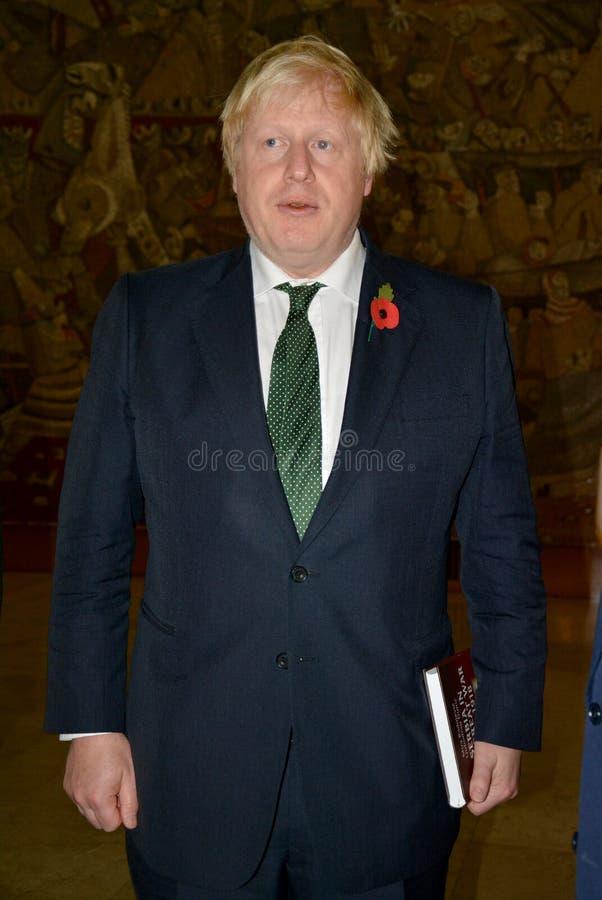 Ministro degli affari esteri Boris Johnson di Britannici nella visita ufficiale in Serbia fotografia stock
