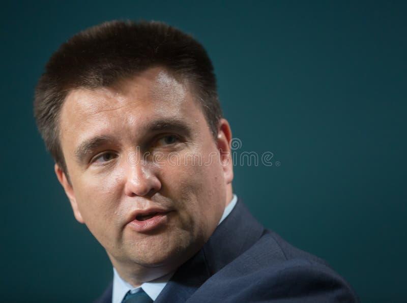 Ministro degli affari esteri dell'Ucraina Pavlo Klimkin fotografia stock
