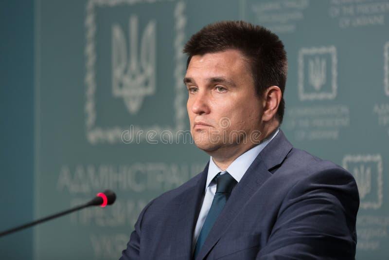 Ministro degli affari esteri dell'Ucraina Pavlo Klimkin immagine stock libera da diritti