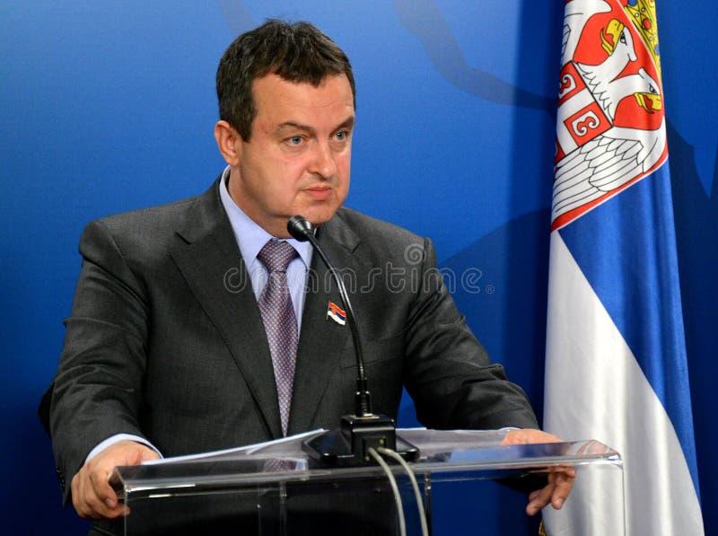 Ministro degli affari esteri della Repubblica di Serbia Ivica Dacic immagine stock libera da diritti