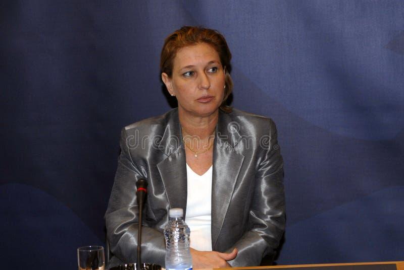 MINISTRO DEGLI AFFARI ESTERI di Tzipi Livni in DANIMARCA fotografia stock