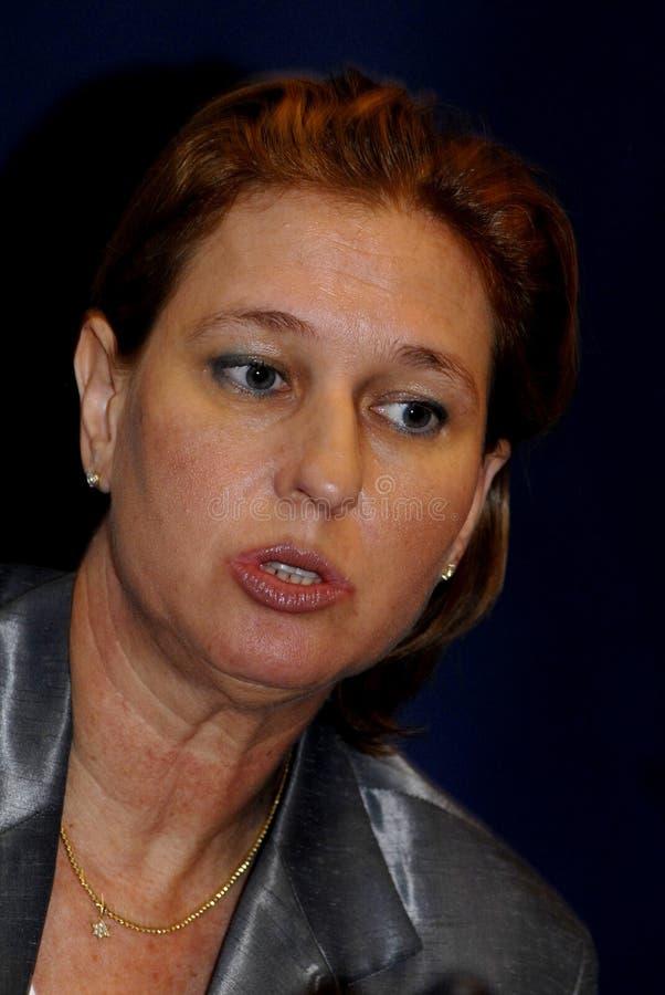 MINISTRO DEGLI AFFARI ESTERI di Tzipi Livni in DANIMARCA fotografie stock