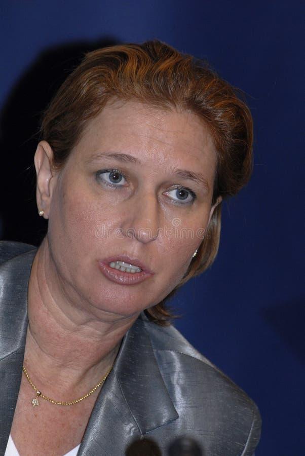 MINISTRO DEGLI AFFARI ESTERI di Tzipi Livni in DANIMARCA immagini stock libere da diritti