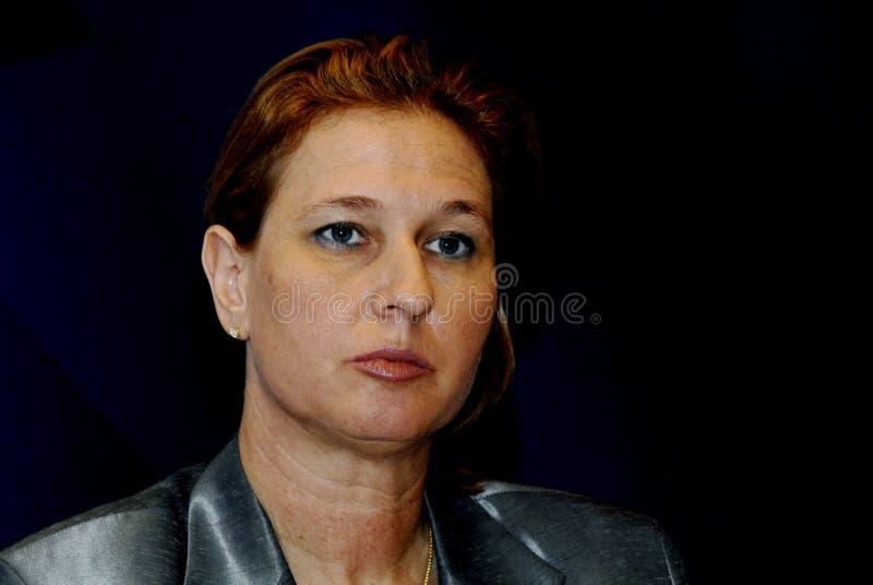 MINISTRO DEGLI AFFARI ESTERI di Tzipi Livni in DANIMARCA immagine stock