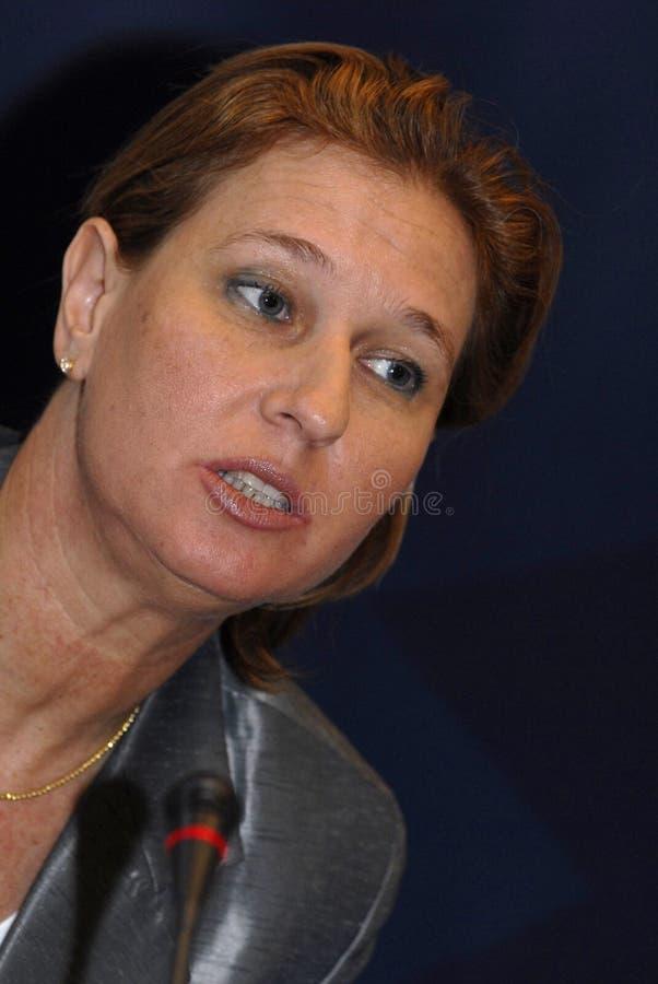 MINISTRO DEGLI AFFARI ESTERI di Tzipi Livni in DANIMARCA immagini stock