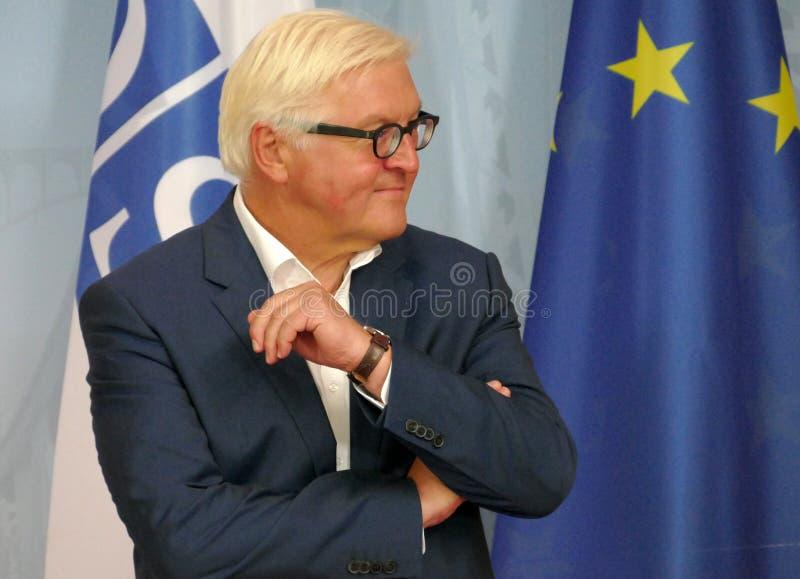 Ministro degli affari esteri federale Dr Frank-Walter Steinmeier alla riunione informale del ministro degli affari esteri di OSCE fotografie stock