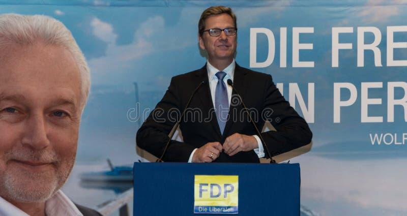 Ministro degli affari esteri federale Dr. Guido Westerwelle fotografia stock libera da diritti