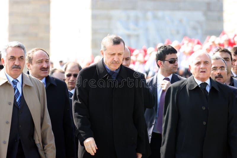 Ministro Primo Recep Tayyip Erdogan della Turchia immagini stock libere da diritti
