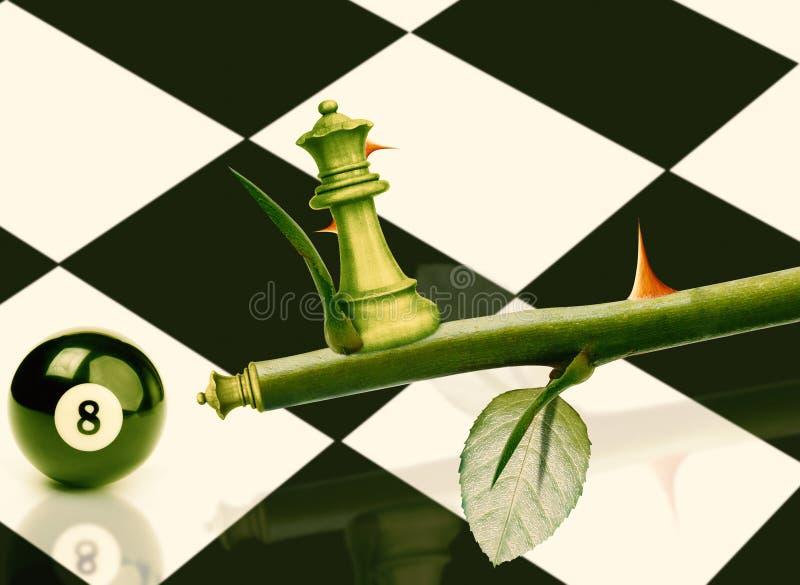 Ministro verde Chess imagem de stock