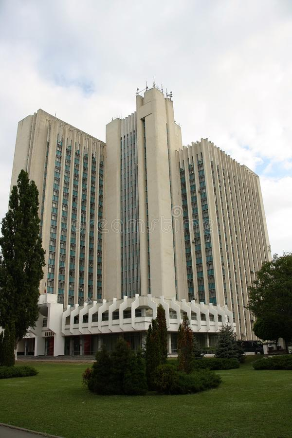 Ministry of Agriculture building in Chisinau, Moldova royalty free stock images
