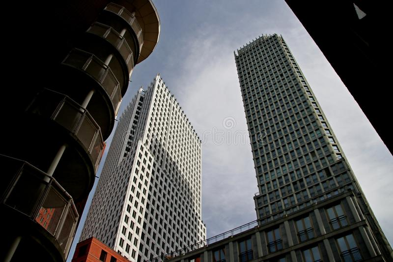 Ministry buildings in the center of Den Haag The Hague as new downtown construction.  royalty free stock images