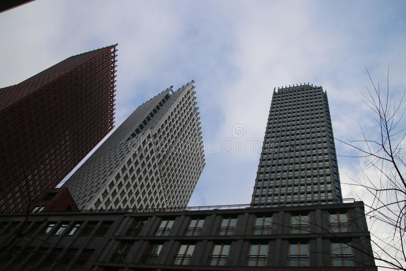 Ministry buildings in the center of Den Haag The Hague as new downtown construction. Ministry buildings in the center of Den Haag The Hague as new downtown stock photography