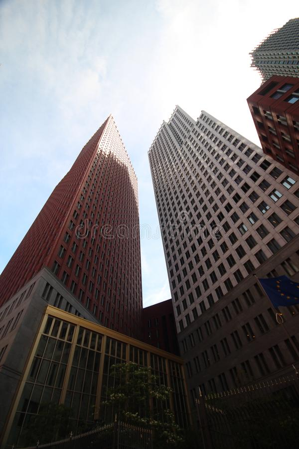 Ministry buildings in the center of Den Haag The Hague as new downtown construction. Ministry buildings in the center of Den Haag The Hague as new downtown royalty free stock photos