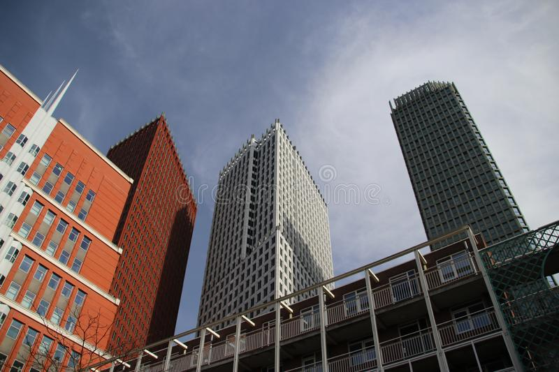 Ministry buildings in the center of Den Haag The Hague as new downtown construction. Ministry buildings in the center of Den Haag The Hague as new downtown stock photos
