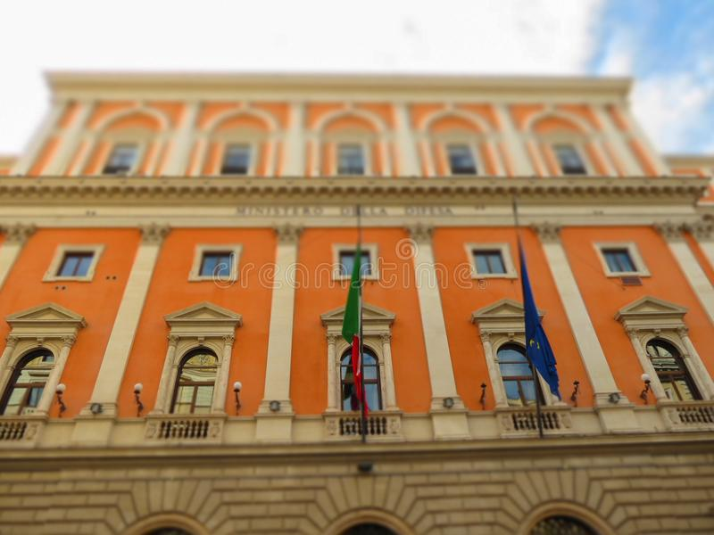 Ministry of Defence in Rome stock image