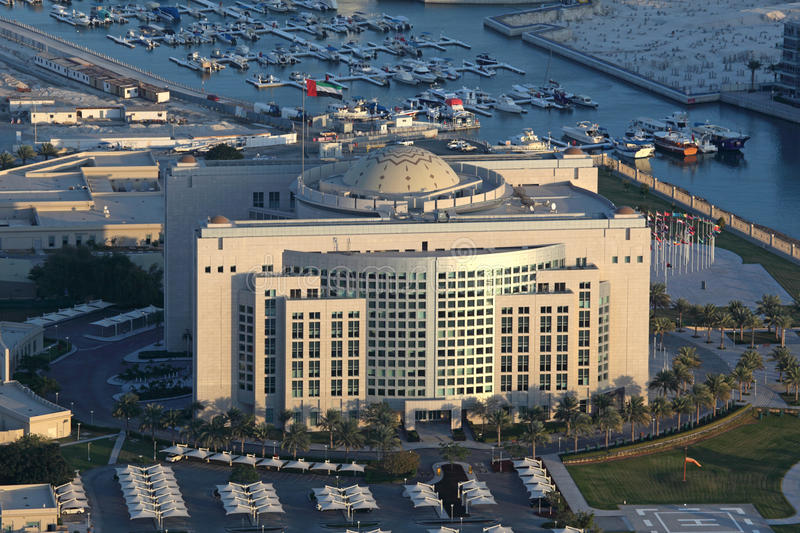 Ministry of Foreign Affairs in Abu Dhabi. Ministry of Foreign Affairs building in Abu Dhabi, United Arab Emirates royalty free stock photography