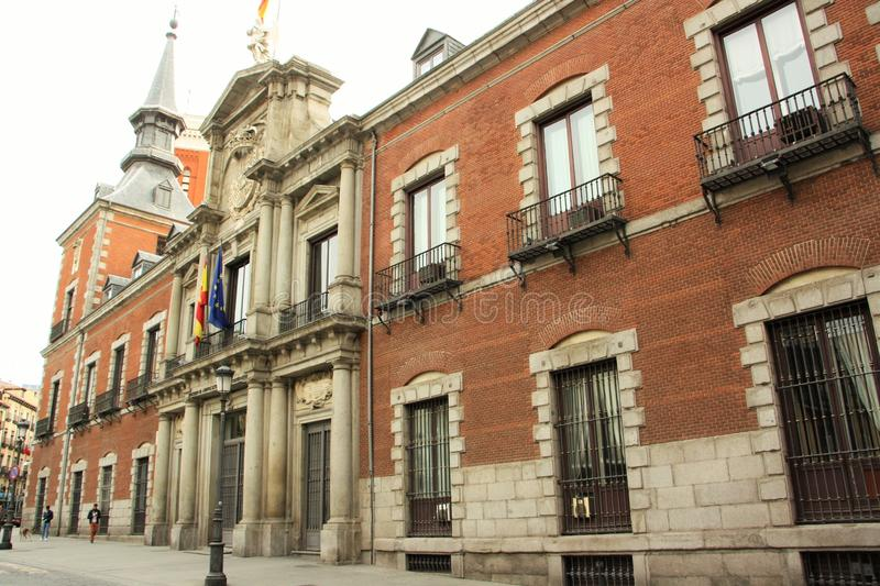 Ministry of Foreign Affairs of Spain. Building in Madrid. It is located in a historic Palacio de Santa Cruz, built between the years of 1629 and 1636. Palacio stock photo