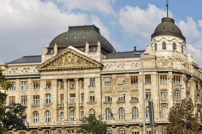 The Ministry Of Internal Affairs building in Budapest, Hungary. The Ministry Of Internal Affairs building facade in Budapest downtown, Hungary stock photos