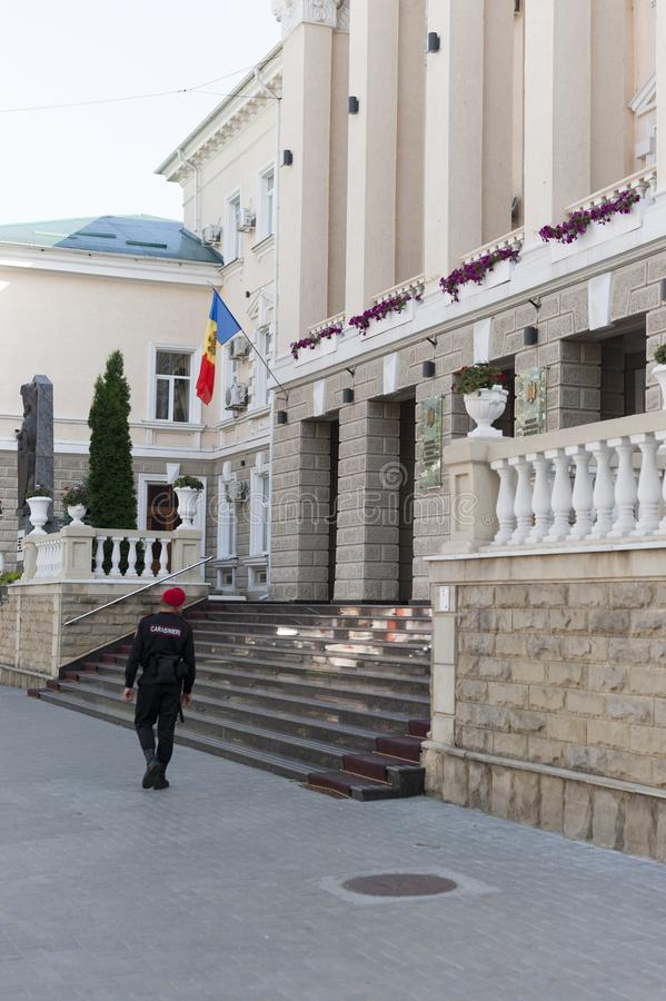 Ministry of Internal Affairs moldova. Ministry of Internal Affairs building in Moldova, located on the street Stefan cel Mare si Sfant Boulevard , chisinau royalty free stock photography