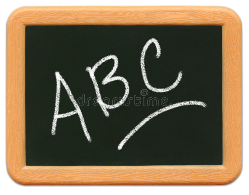 Minitafel des Kindes - ein B C lizenzfreies stockfoto