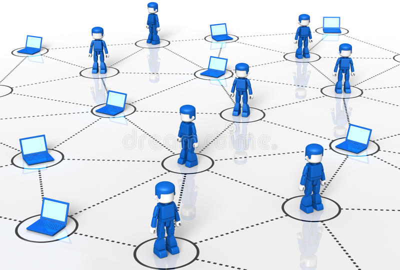 minitoy τεχνολογία δικτύων διανυσματική απεικόνιση