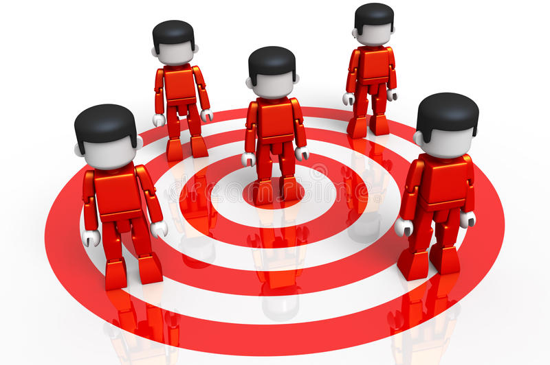 Download MiniToy Red Target Group stock illustration. Illustration of employment - 11899590