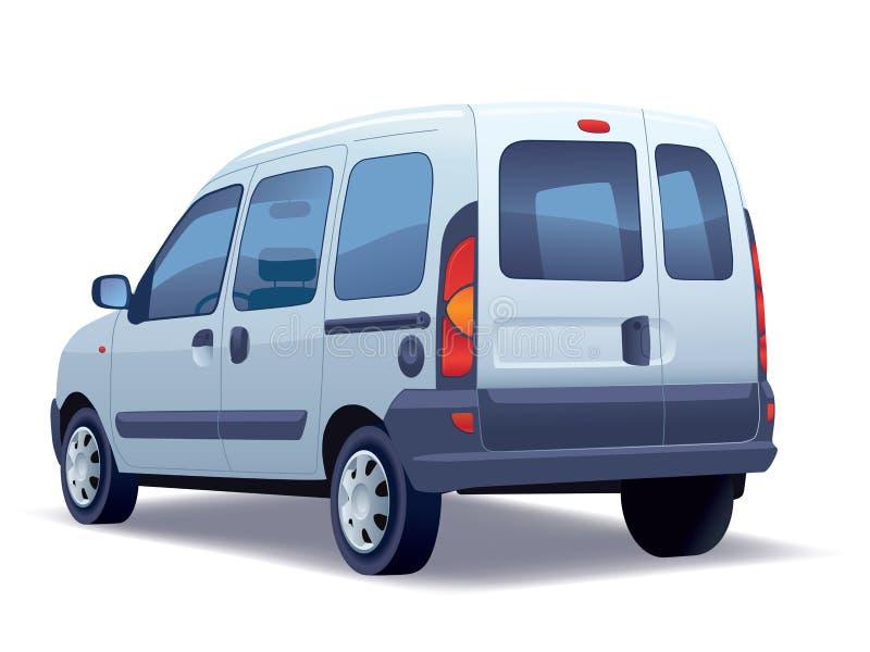 Minivan. Commercial vehicle - minivan on a white background royalty free illustration