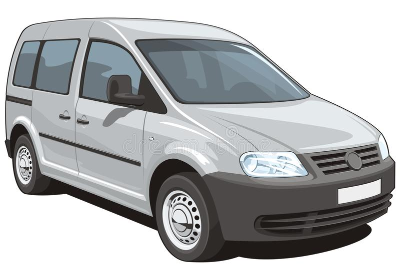 Minivan. Vector minivan cargo and passenger on white background, without gradients and transparency vector illustration