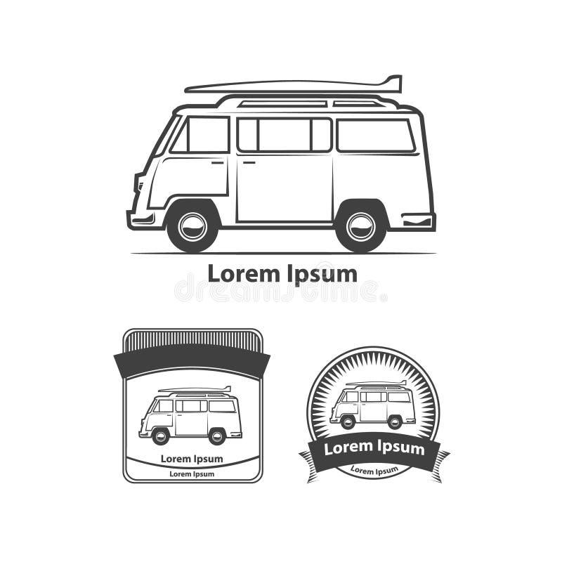 minivan stock abbildung