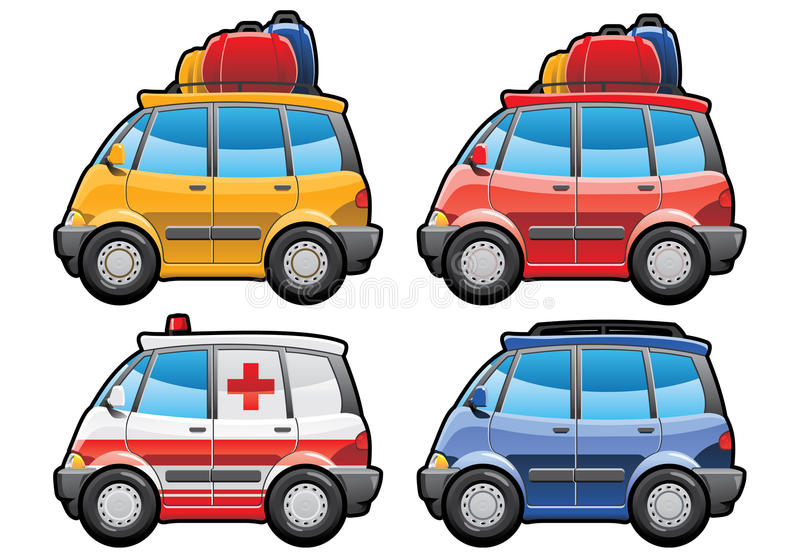 Minivan, ambulance car. Minivan - part of my collections of Car body style. Simple gradients only - no gradient mesh vector illustration