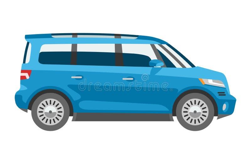 Minivan car vector van auto vehicle family minibus vehicle and automobile banner isolated citycar on white background. Illustration stock illustration