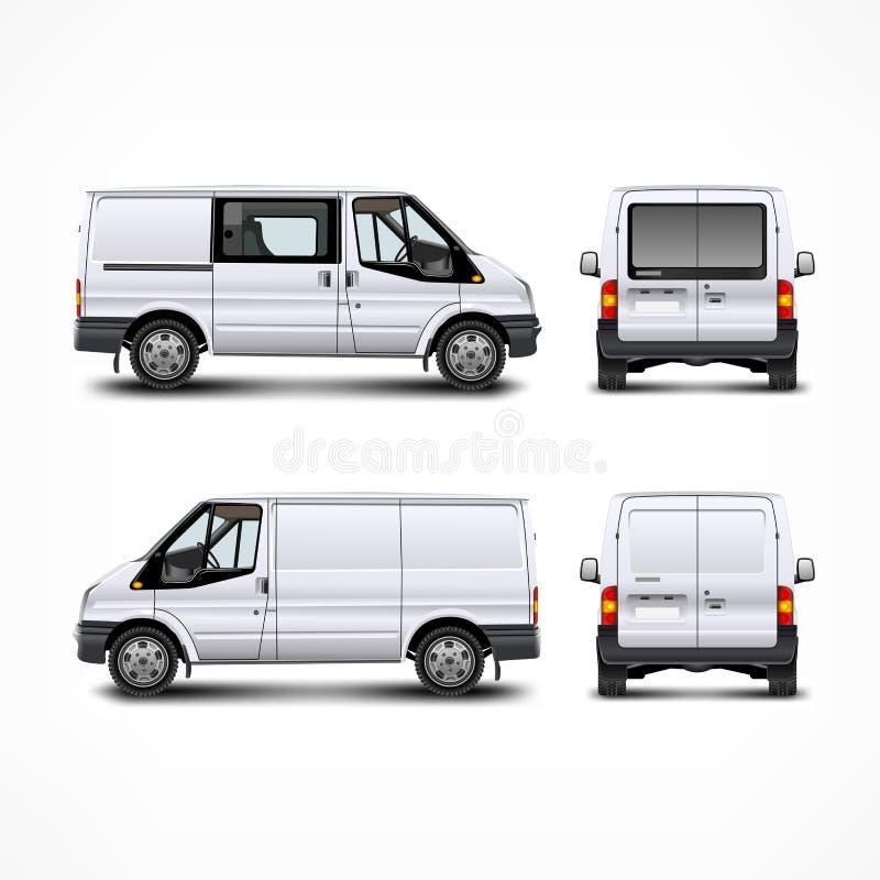 Minivan. Car, white bus on white, vector illustration royalty free illustration