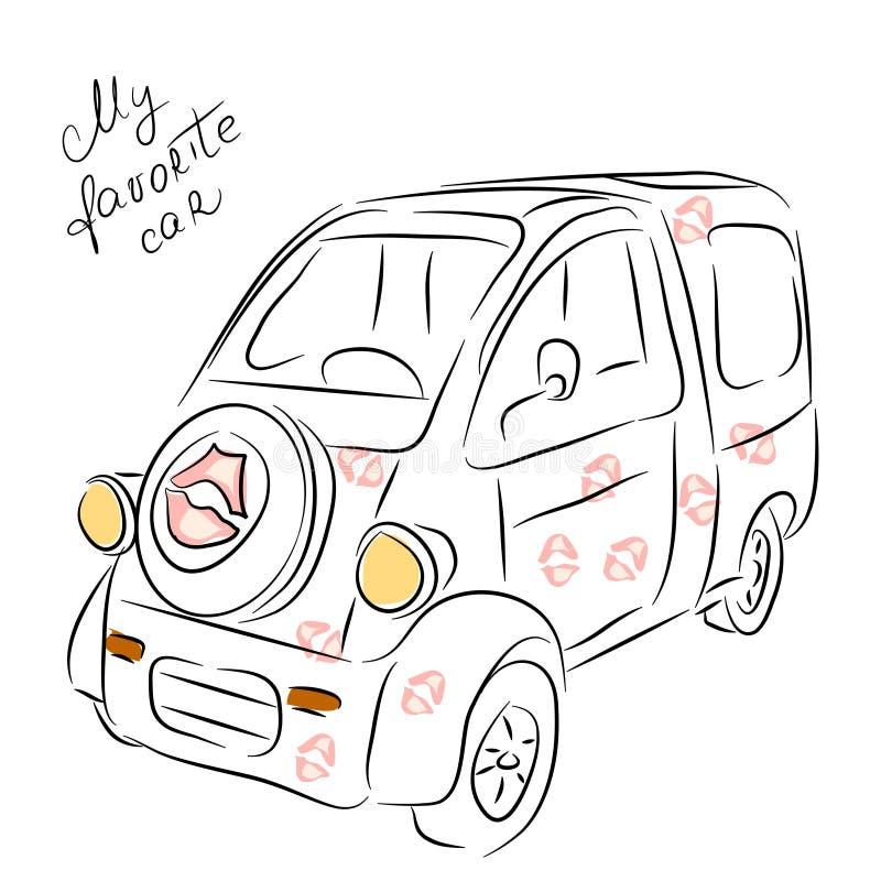 Minivan croquis de voiture illustration de vecteur image du conception 78041411 - Croquis voiture ...