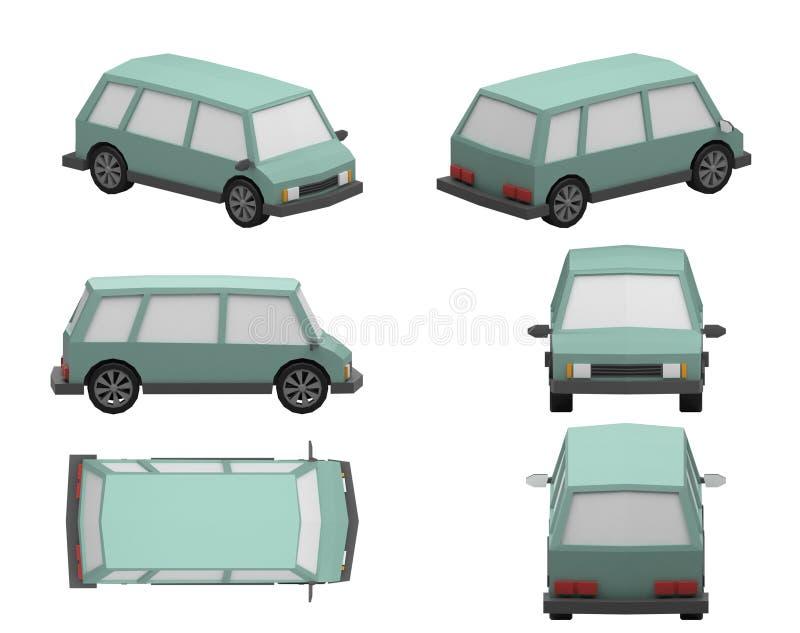 Minivan stock illustration