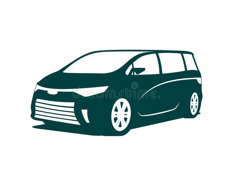 Minivan icon. An illustration of concept of minivan icon royalty free illustration