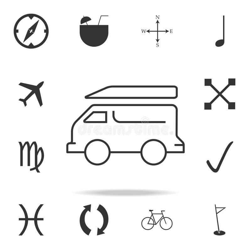 Minivansymbol Detaljerad uppsättning av rengöringsduksymboler Högvärdig kvalitets- grafisk design En av samlingssymbolerna för we vektor illustrationer