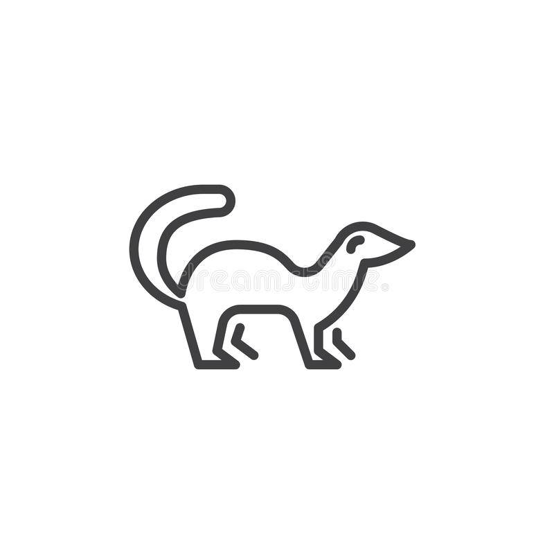 Free Mink Side View Line Icon Royalty Free Stock Photography - 140198937