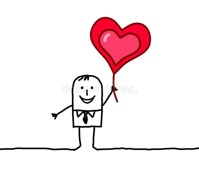 minnaar en hart stock illustratie