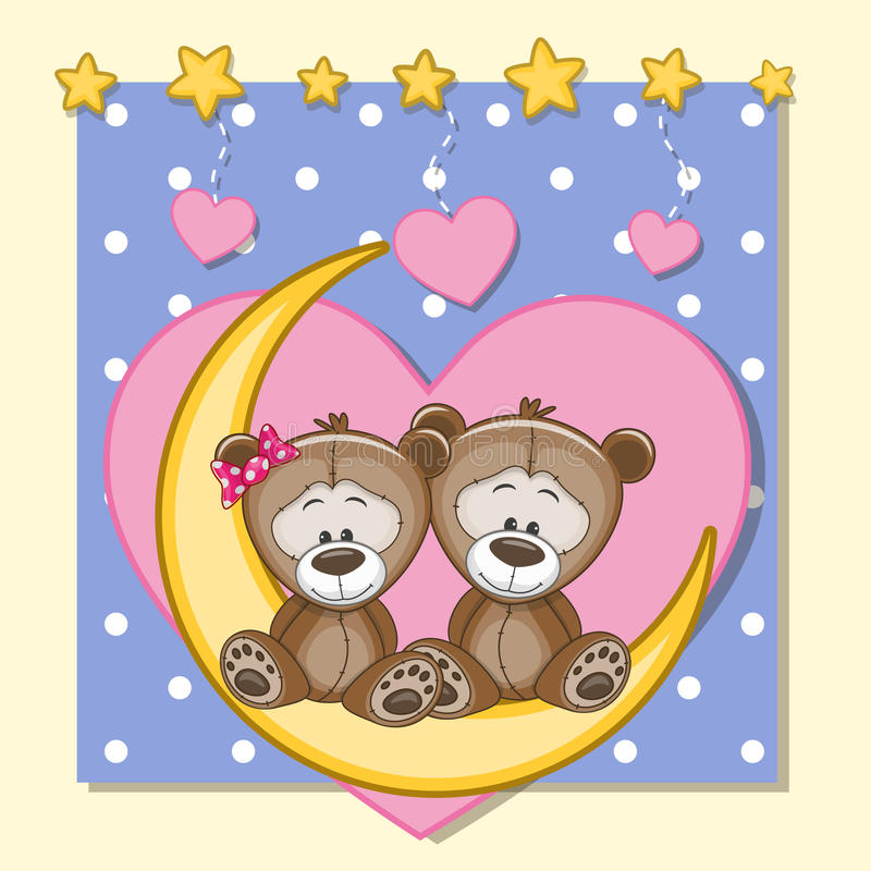 Minnaars Teddy Bears stock illustratie