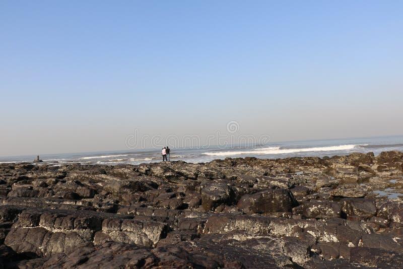 Minnaarspunt van Mumbai voor het strand van de parenmuziektent royalty-vrije stock afbeelding