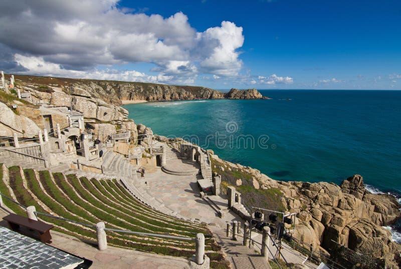 Minnack teater Cornwall arkivfoto