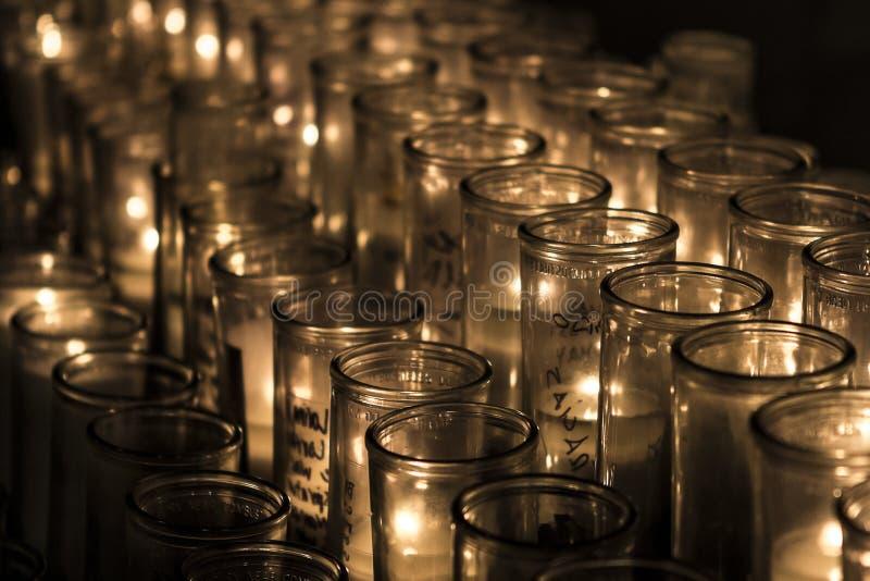 Minnas stearinljus royaltyfria bilder