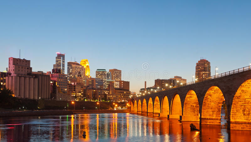 Minneapolis. Image of Minneapolis downtown at twilight royalty free stock photo